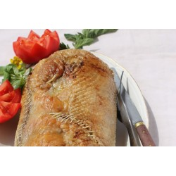 Canard royal de Barbarie farci au foie gras