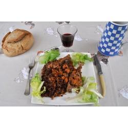 Lentilles bio du Savès à la viande de canard confite