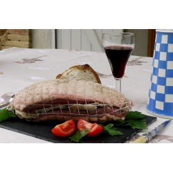 Rôti de magret de canard de Barbarie farci au foie gras